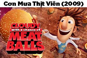 Review Phim Hoạt Hình Cơn Mưa Thịt Viên 2009